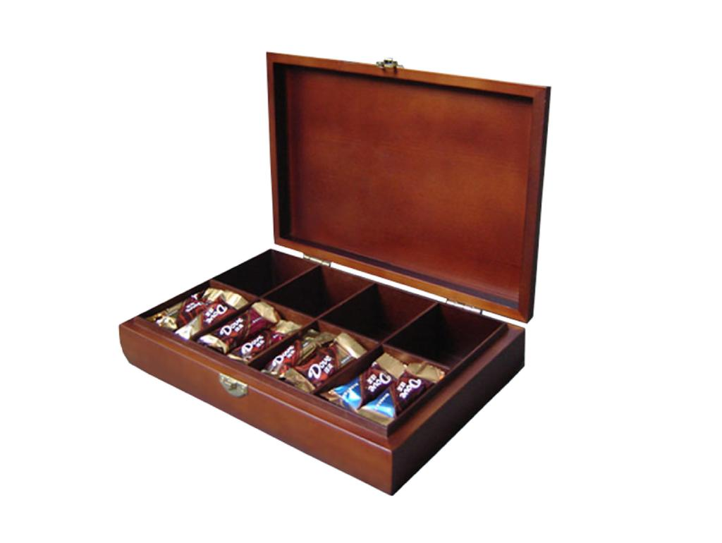 Rich Brown Wooden Chocolate Gift Box 1