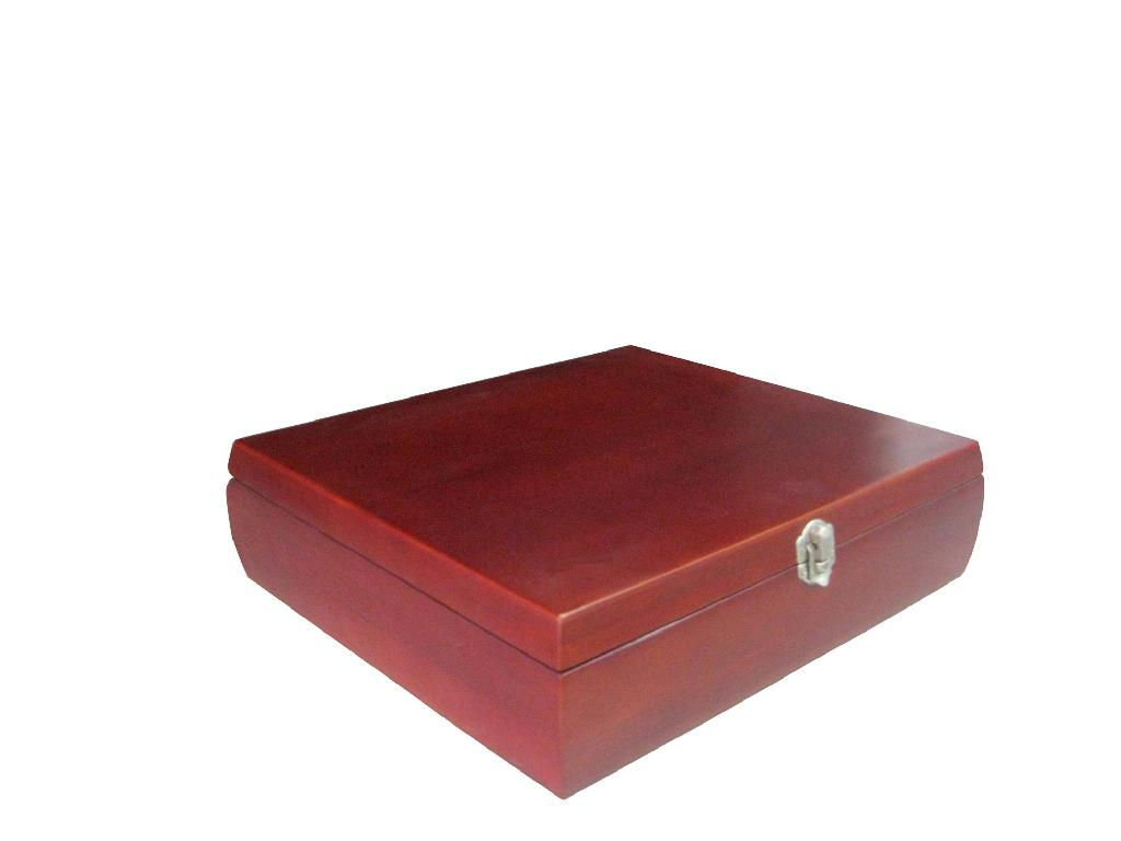 New Wooden Tea Chest Stained Wood Box 2