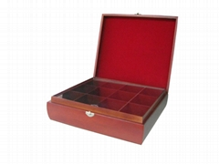 New Wooden Tea Chest Stained Wood Box