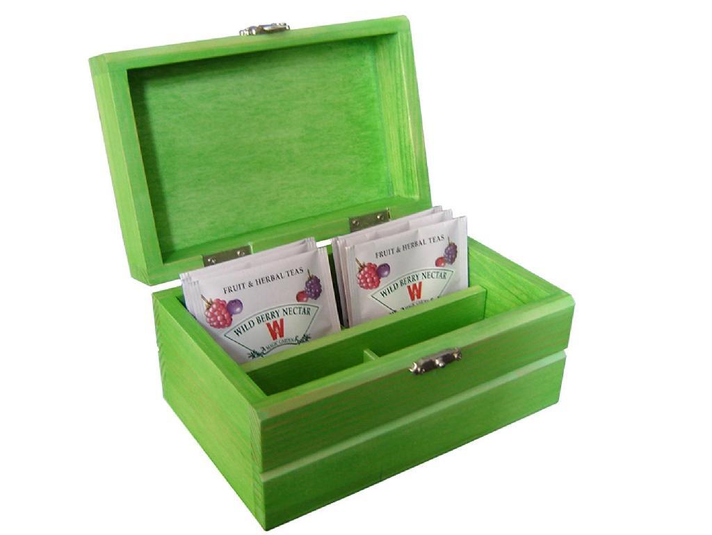 Small Wood Tea Gift Box Pocket 3