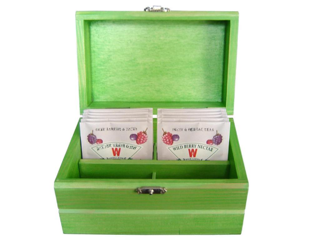 Small Wood Tea Gift Box Pocket 1