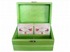 Small Wood Tea Gift Box Pocket