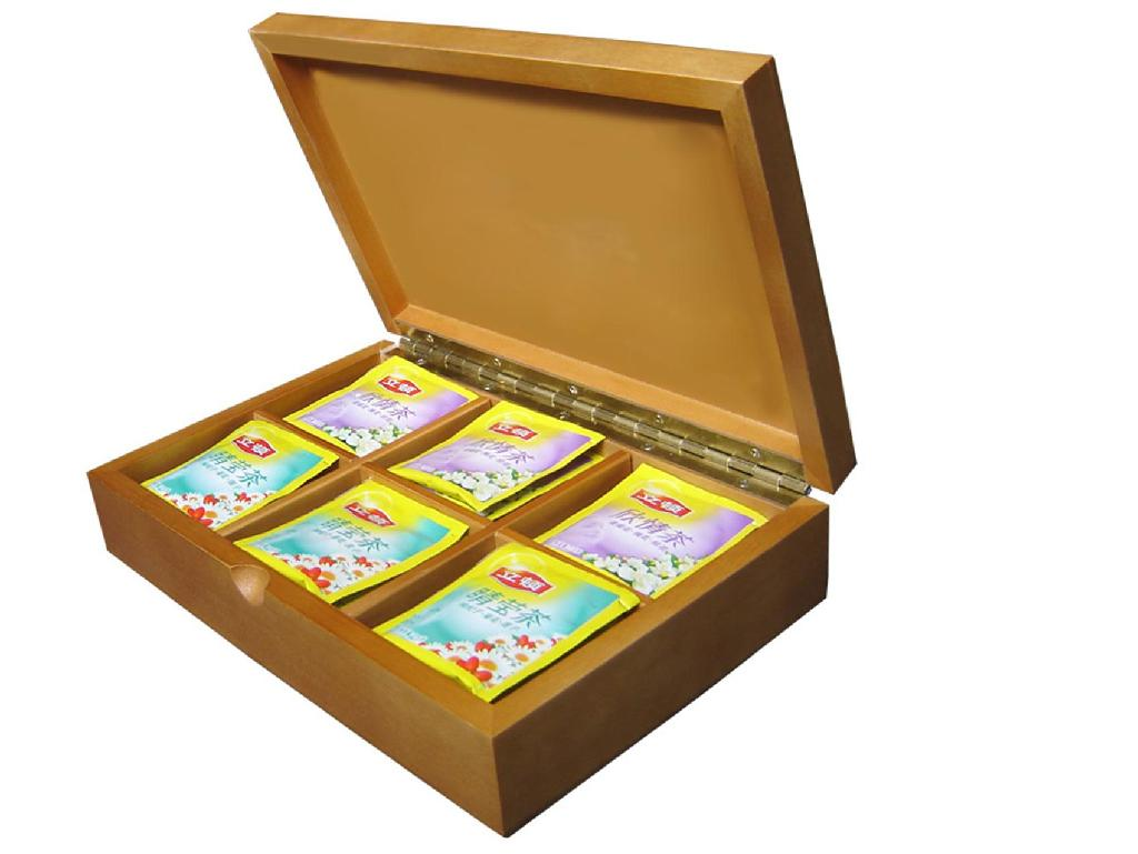 Beautifully Crafted Solid Wooden Tea Box 1