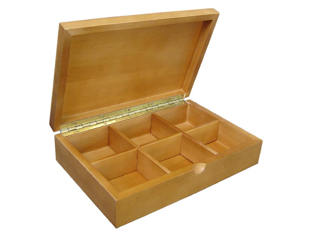 Beautifully Crafted Solid Wooden Tea Box 2