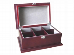 Finest Handcrafted 6 Compartment Wooden Tea Chest Box