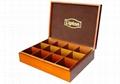 Solid Poplar Wooden Tea Box 1