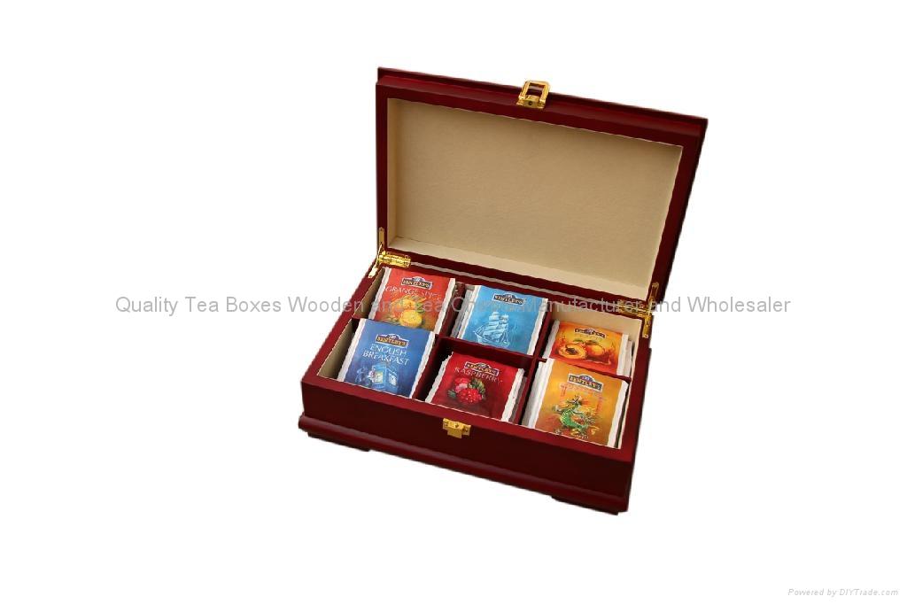 Rich Mahogany Wooden Tea Boxes 1