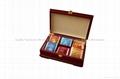 Rich Mahogany Wooden Tea Boxes