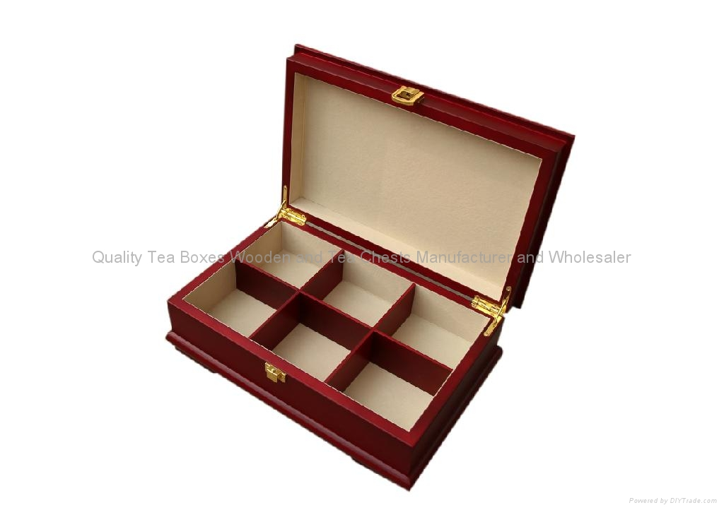 Rich Mahogany Compartment Wooden Tea Gift Packaging Storage Boxes and Display 3