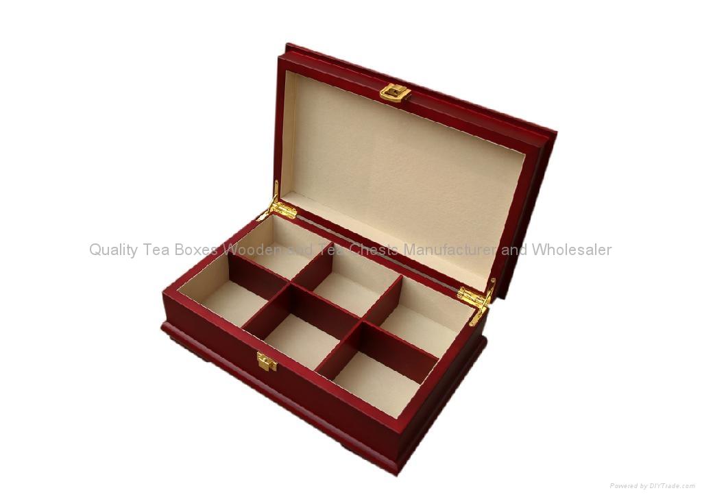 Rich Mahogany Wooden Tea Boxes 3