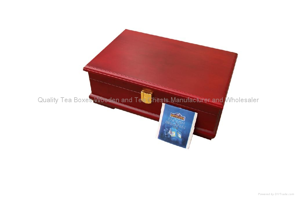 Rich Mahogany Compartment Wooden Tea Gift Packaging Storage Boxes and Display 5