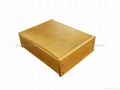 Light Brown Finished Wooden Tea Box With Six Compartments