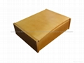 Light Brown Finished Wooden Tea Box With Six Compartments 4