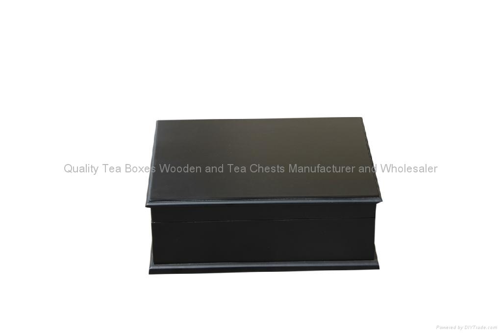 Ve  et Lined Six Compartment Wooden Tea Chest 2