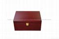 Mahogany Finished Wooden Tea Box for Loose Tea 2