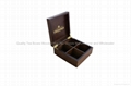 Luxurious and Exclusive Dark Wood Finshed Twinings Tea Caddy
