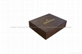 Handcrafted Dark Wood Finished Compartment Tea Storage Display Boxes 3