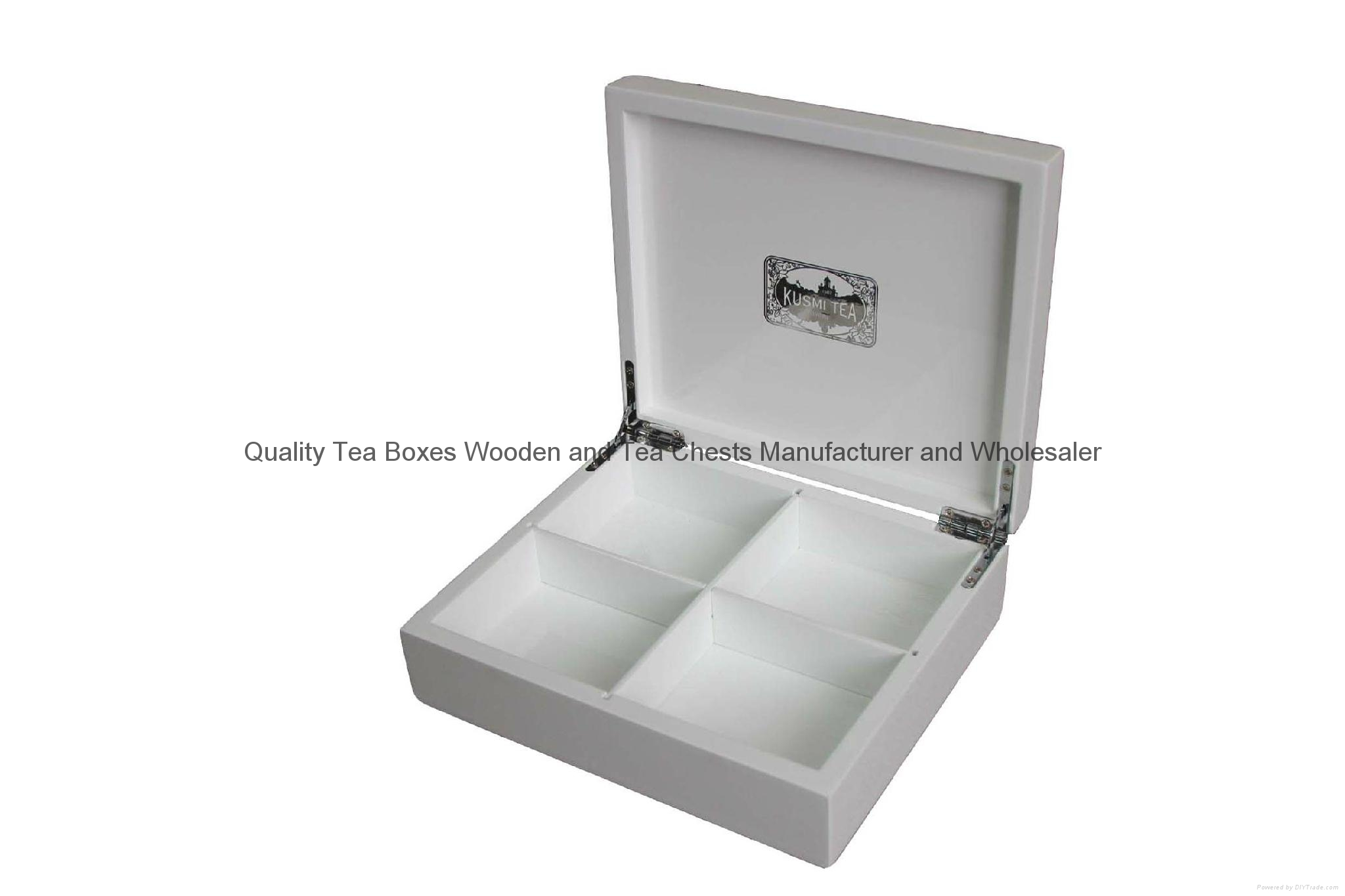 Glossy Painted Tea Gift Wooden Packaging Box 3