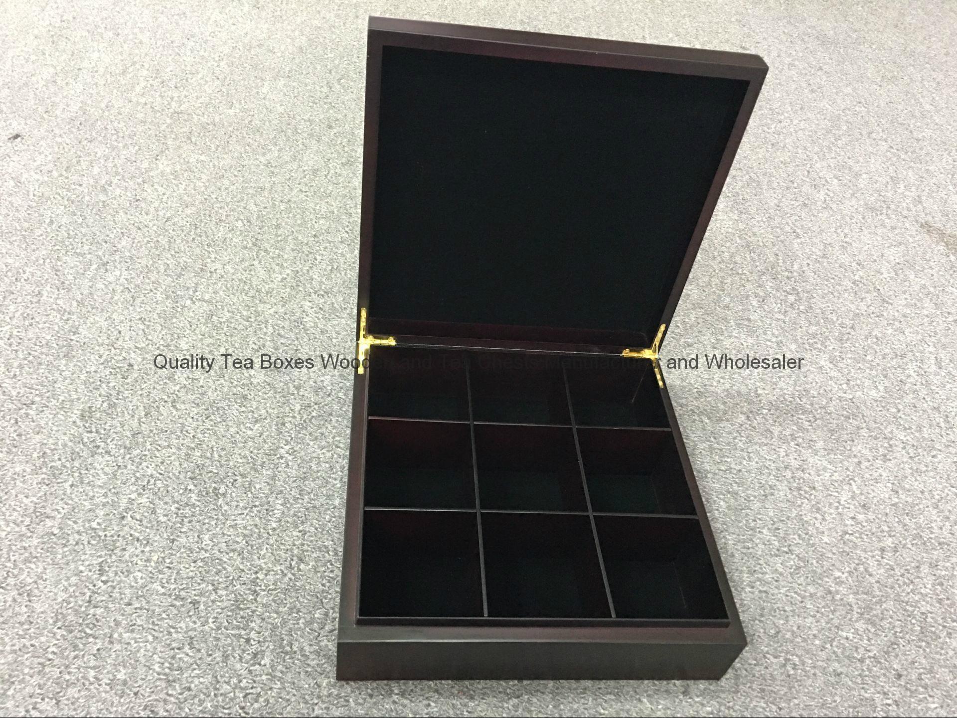 Handmade Quality Rich Mohogany Wooden Tea Box 4