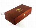 Durable Brown Wooden Compartment Tea Display Chest Box and Holder 3