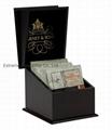 Mini Black Wooden Tea Gift Boxes Pocket