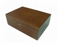 Rich Cherry Finished Wood Tea Box