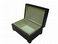 Small Luxuary Brown Wiped Wooden Tea Gift  Box 2