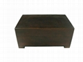 Small Luxuary Brown Wiped Wooden Tea Gift  Box 3