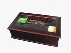 Wooden Tea Chest Acrylic Glass