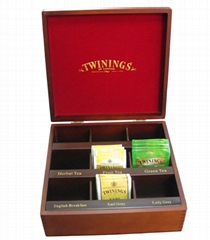 Tea Wooden Boxes Stained