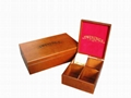 Velvet Wooden Tea Box