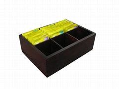 Black Mat Wooden Tea Chest Display Stand