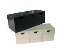 Elegant Wood Tea Compartment Chest Box
