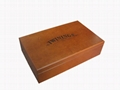 Brown Twinings Wooden Tea Compartment Boxes
