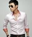 new fashion popular men's long sleeve fit business shirt  2