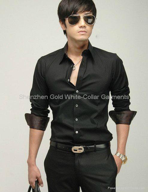 新款男式长袖商务衬衫 4