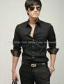 new fashion popular men's long sleeve fit business shirt  4