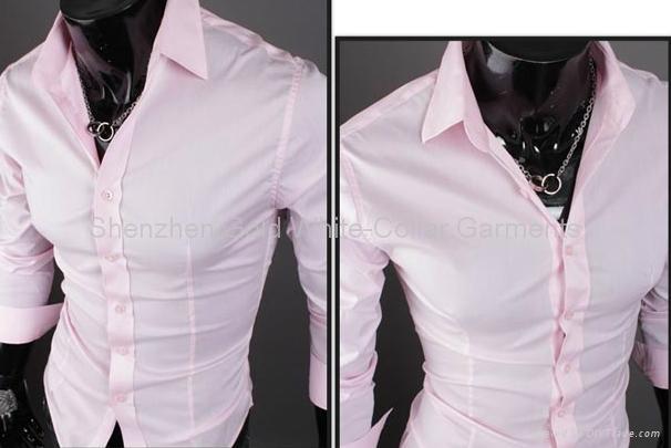 OEM men's Slim  business shirt 4