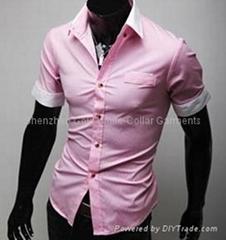 OEM  款式高品质修身短袖衬衣