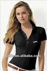 OEM女人時尚品牌polo衫