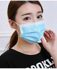 Disposable non-woven three-layer sterile mask