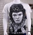 定制3D印刷圆领男女T恤