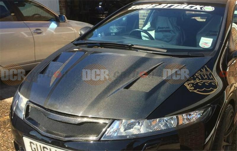 2016 Honda Civic Type R Price >> JS MUGEN STYLE CARBON FIBER VENTED HOOD FOR 2006 2011 HONDA CIVIC TYPE R FN2R - DCR CARBON ...