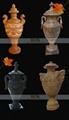 大理石雕刻-傳統花盆