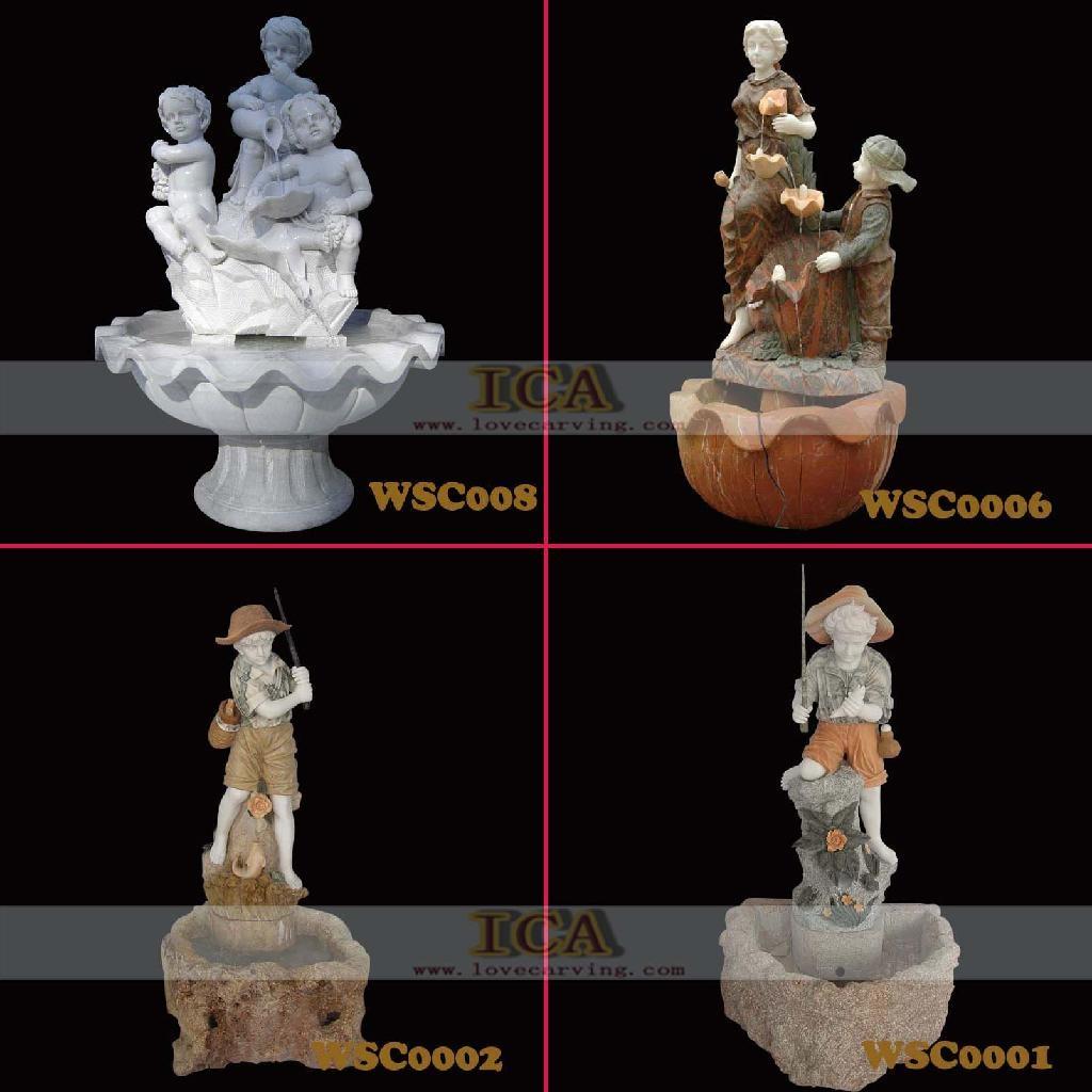 大理石雕刻-宏偉噴泉 1