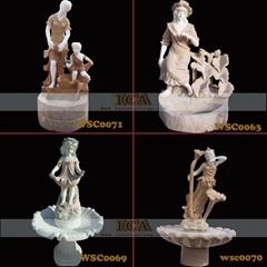 大理石雕刻-宏伟喷泉