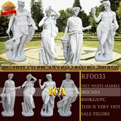 Four season sculpture for outdoor decoration