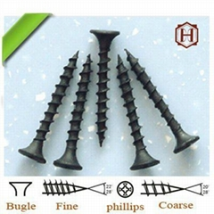Black bugle head drywall screw