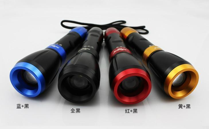 LED Flashlights Sliding zoom High Power CREE Torch lights 2