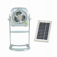 Stand Box Fan with LED Light, Rechargeable Battery and 3 to 8 Hours Working Time